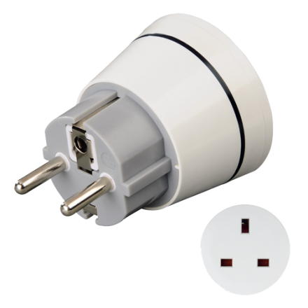 Polovno Hama Travel Adapter Plug, UK, Adapter utičnica britanska na evropsku