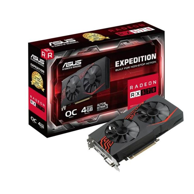 ASUS Expedition Radeon RX 570 OC edition 4GB GDDR5 for non-stop VR and 4K gaming